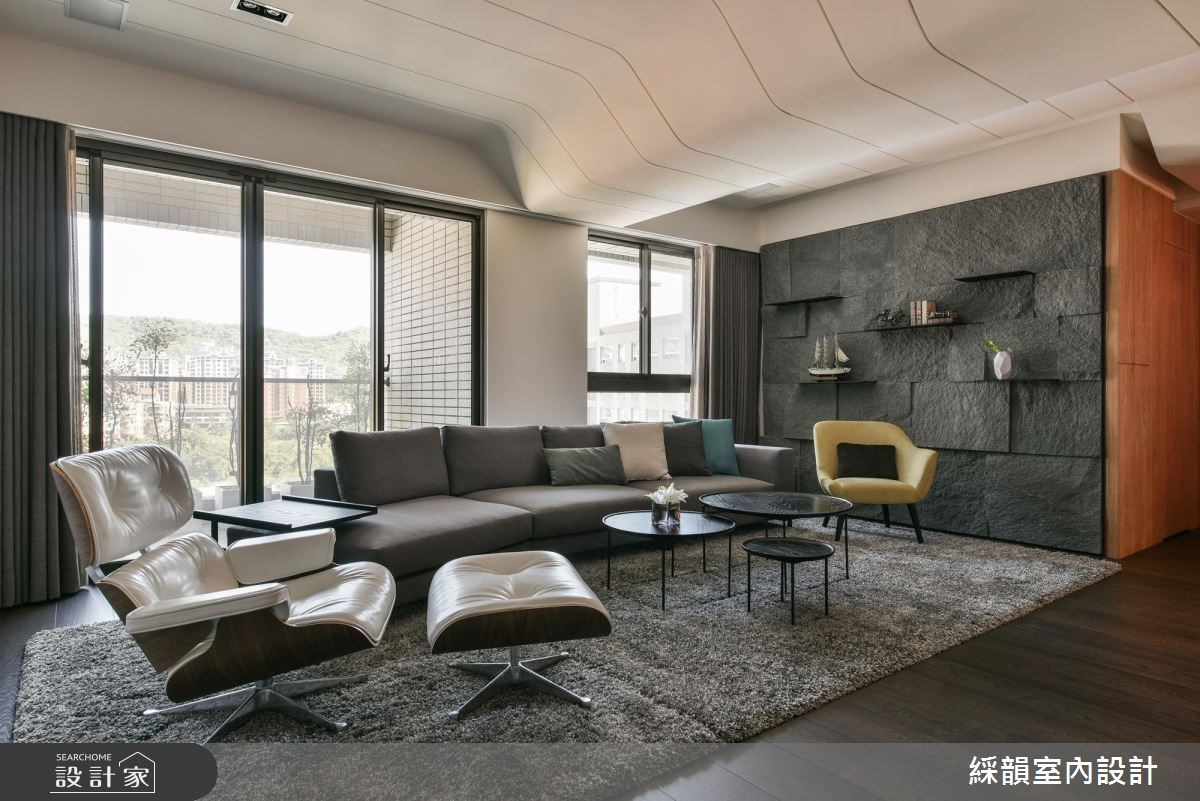 150坪新成屋(5年以下)_現代風客廳案例圖片_綵韻室內設計有限公司_綵韻_08之1