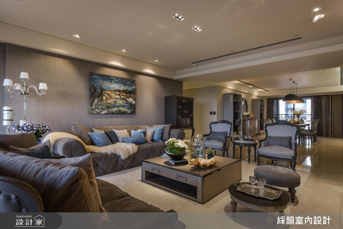 100坪新成屋(5年以下)_新古典客廳案例圖片_綵韻室內設計有限公司_綵韻_09之3