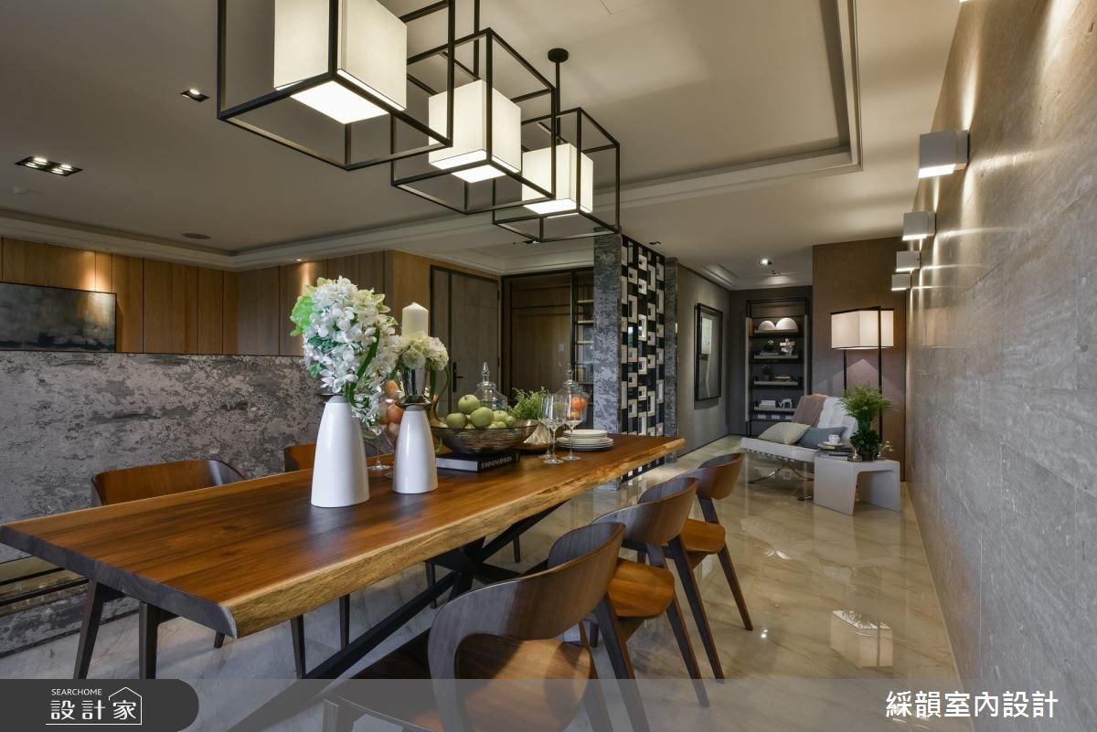 100坪新成屋(5年以下)_新中式風餐廳案例圖片_綵韻室內設計有限公司_綵韻_10之3