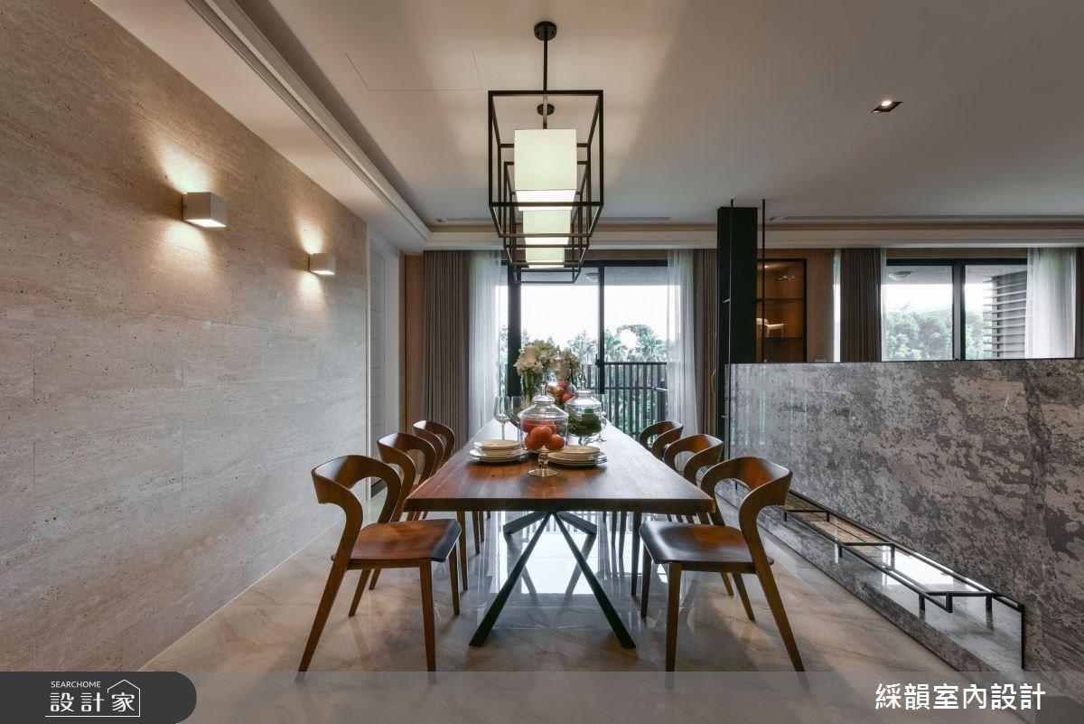 100坪新成屋(5年以下)_新中式風餐廳案例圖片_綵韻室內設計有限公司_綵韻_10之4