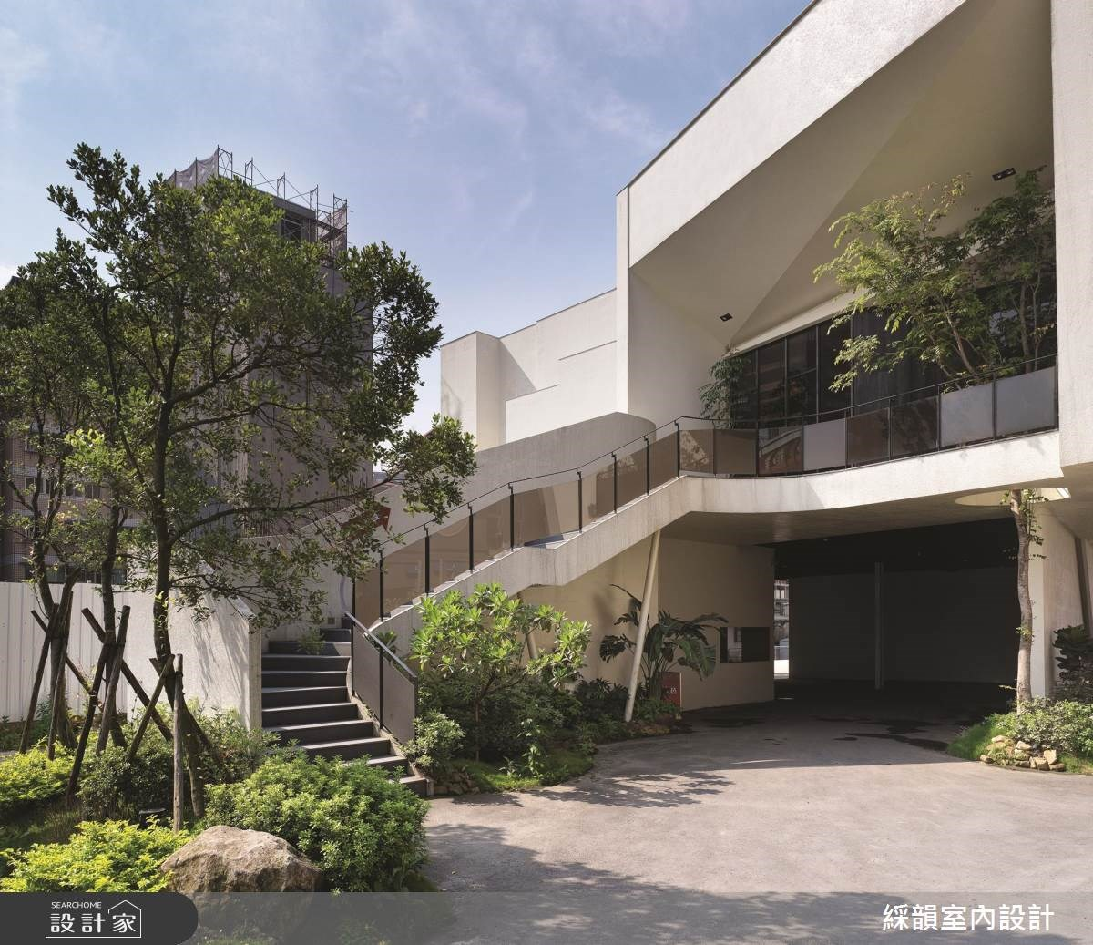 180坪_現代風庭院樓梯案例圖片_綵韻室內設計有限公司_綵韻_13之10