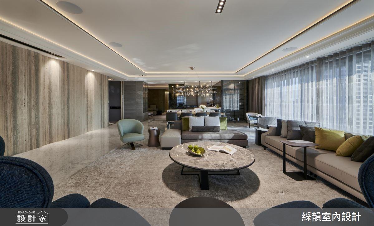 160坪新成屋(5年以下)_現代風客廳案例圖片_綵韻室內設計有限公司_綵韻_22之4