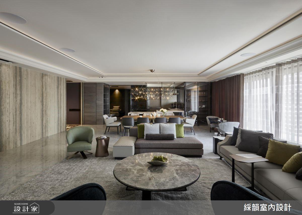 160坪新成屋(5年以下)_現代風客廳案例圖片_綵韻室內設計有限公司_綵韻_22之3
