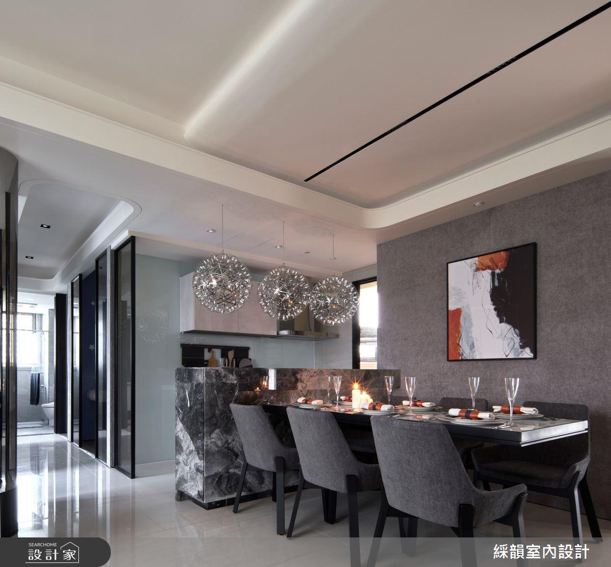 45坪預售屋_現代風餐廳吧檯案例圖片_綵韻室內設計有限公司_綵韻_39之8