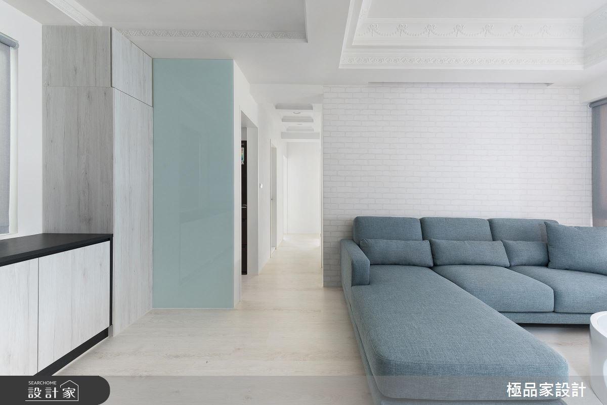 20坪中古屋(5~15年)_北歐風客廳走廊案例圖片_極品家設計_極品家_02之4
