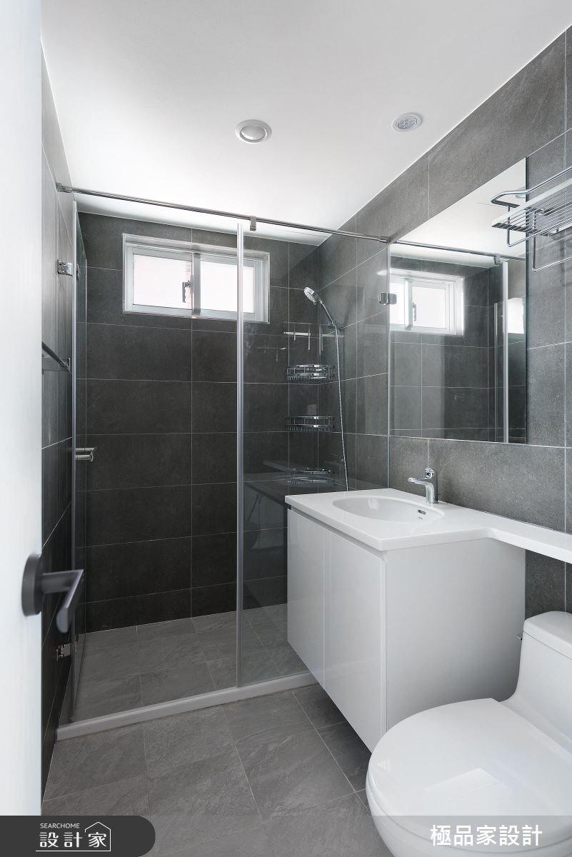 20坪中古屋(5~15年)_北歐風浴室案例圖片_極品家設計_極品家_02之11