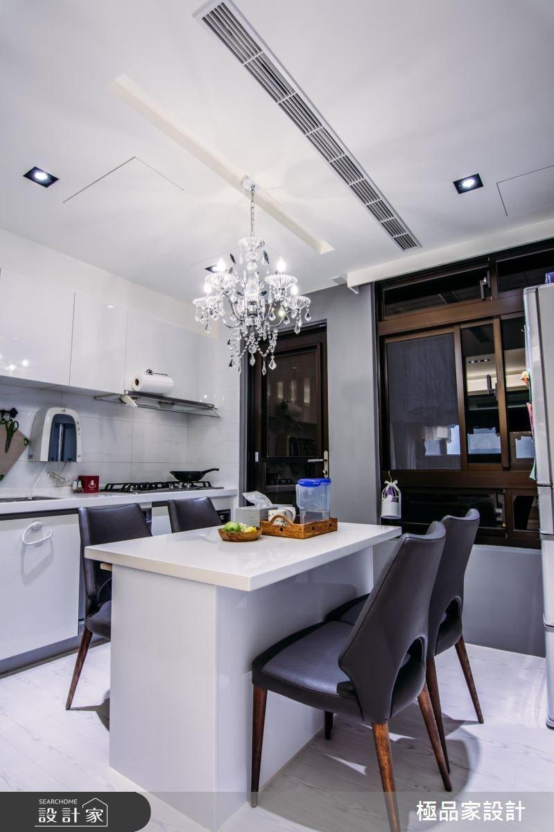 15坪中古屋(5~15年)_新古典餐廳廚房案例圖片_極品家設計_極品家_04之6