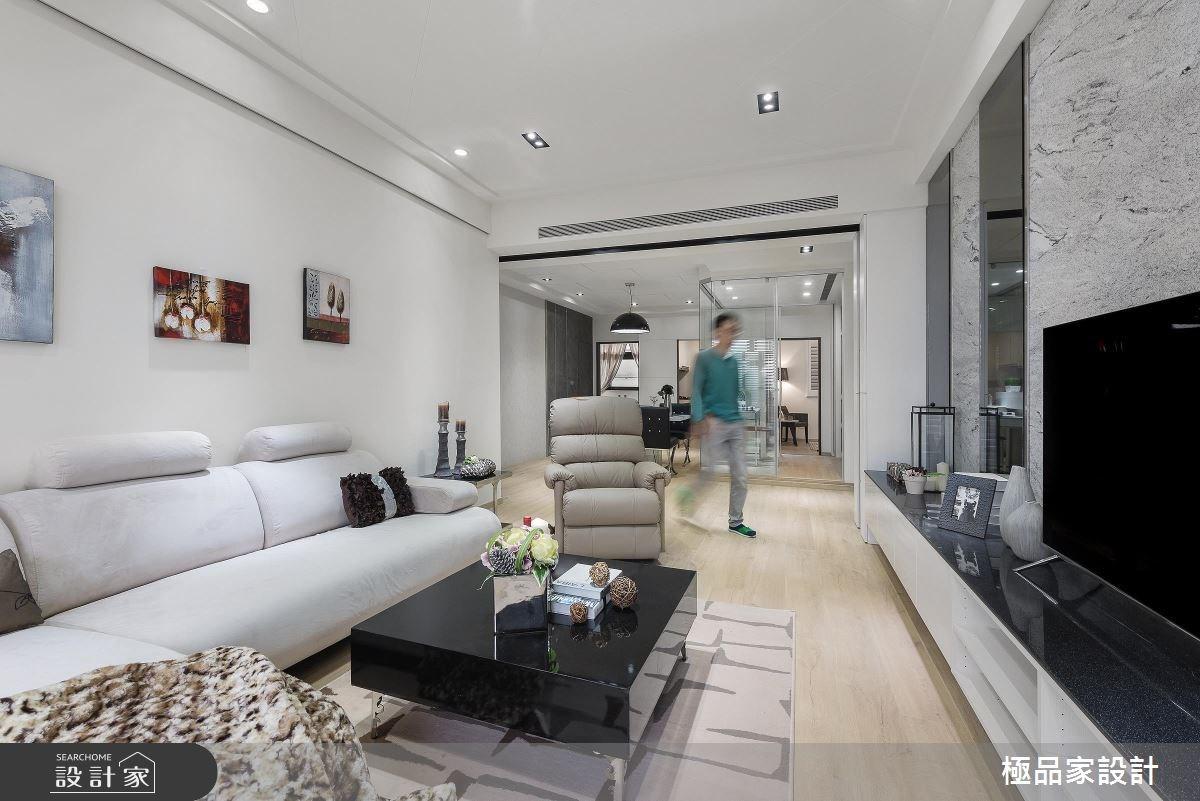 30坪新成屋(5年以下)_現代風客廳案例圖片_極品家設計_極品家_11之4
