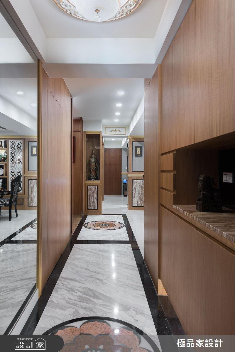 40坪老屋(16~30年)_新中式風玄關走廊案例圖片_極品家設計_極品家_13之1