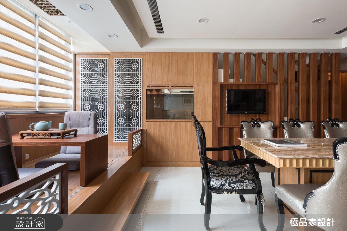 40坪老屋(16~30年)_新中式風餐廳案例圖片_極品家設計_極品家_13之8