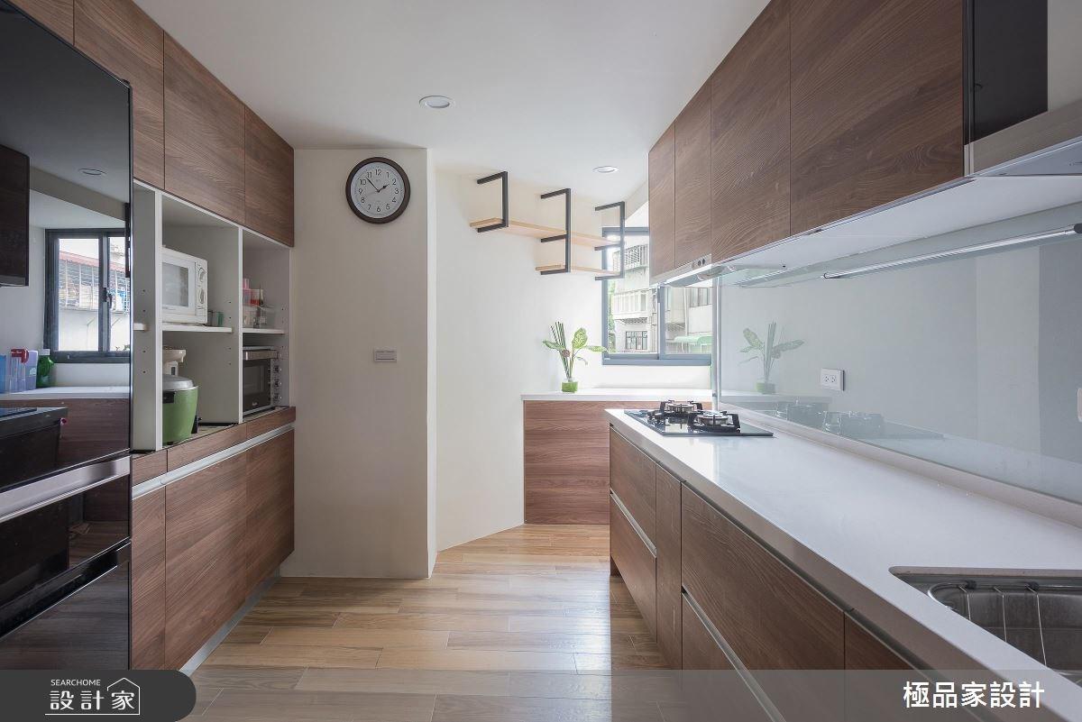 40坪老屋(16~30年)_新中式風廚房案例圖片_極品家設計_極品家_13之10