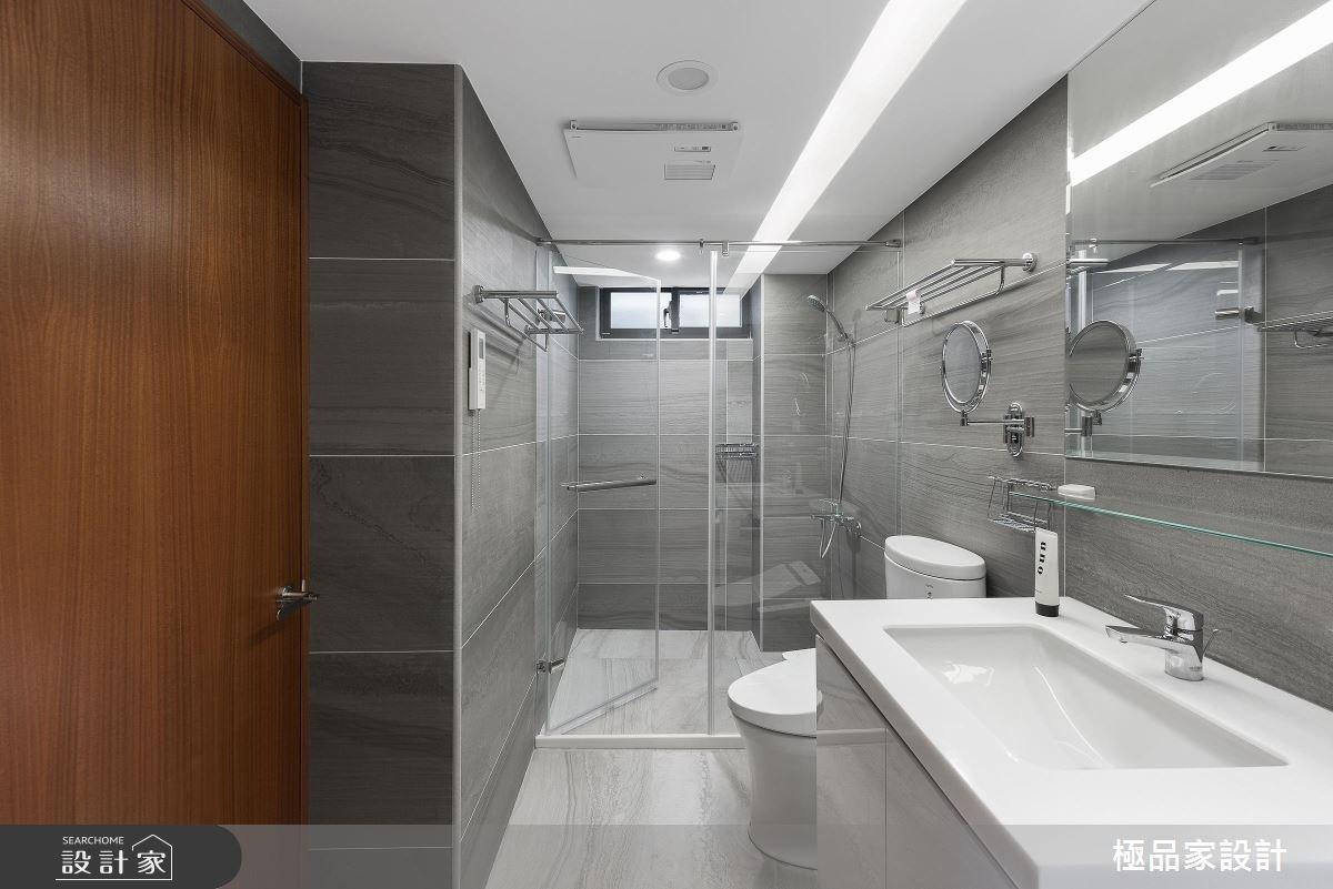40坪老屋(16~30年)_新中式風浴室案例圖片_極品家設計_極品家_13之13