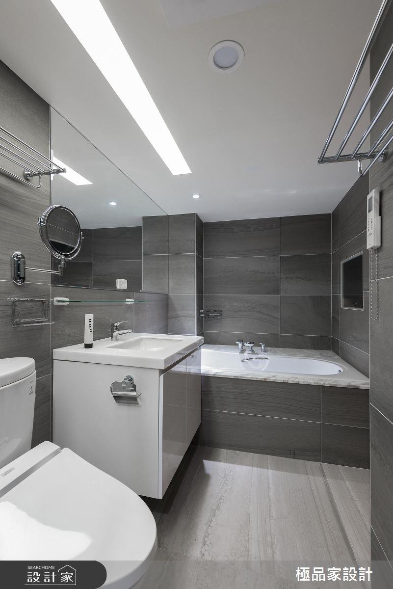 40坪老屋(16~30年)_新中式風浴室案例圖片_極品家設計_極品家_13之14