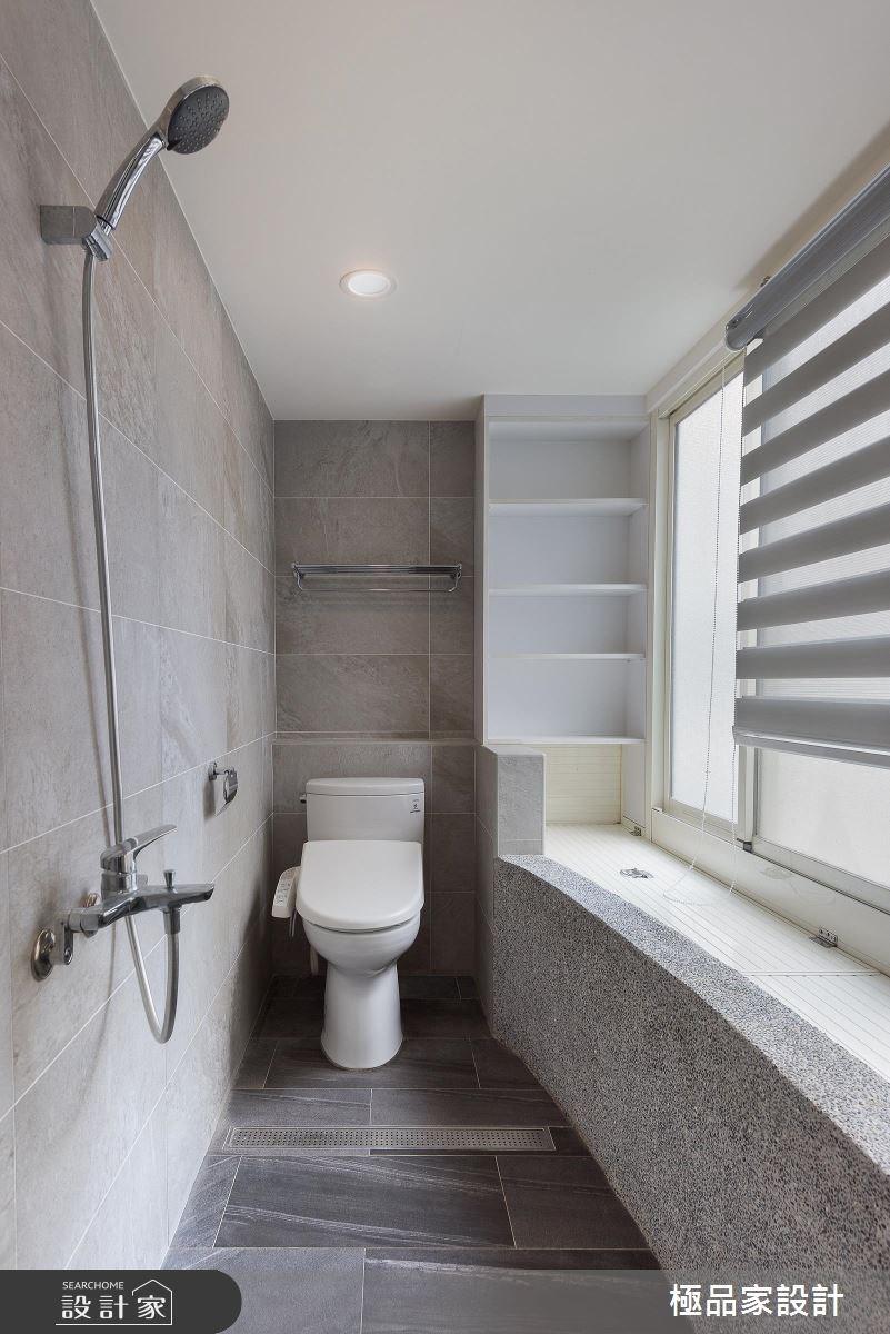 40坪老屋(16~30年)_新中式風浴室案例圖片_極品家設計_極品家_13之15