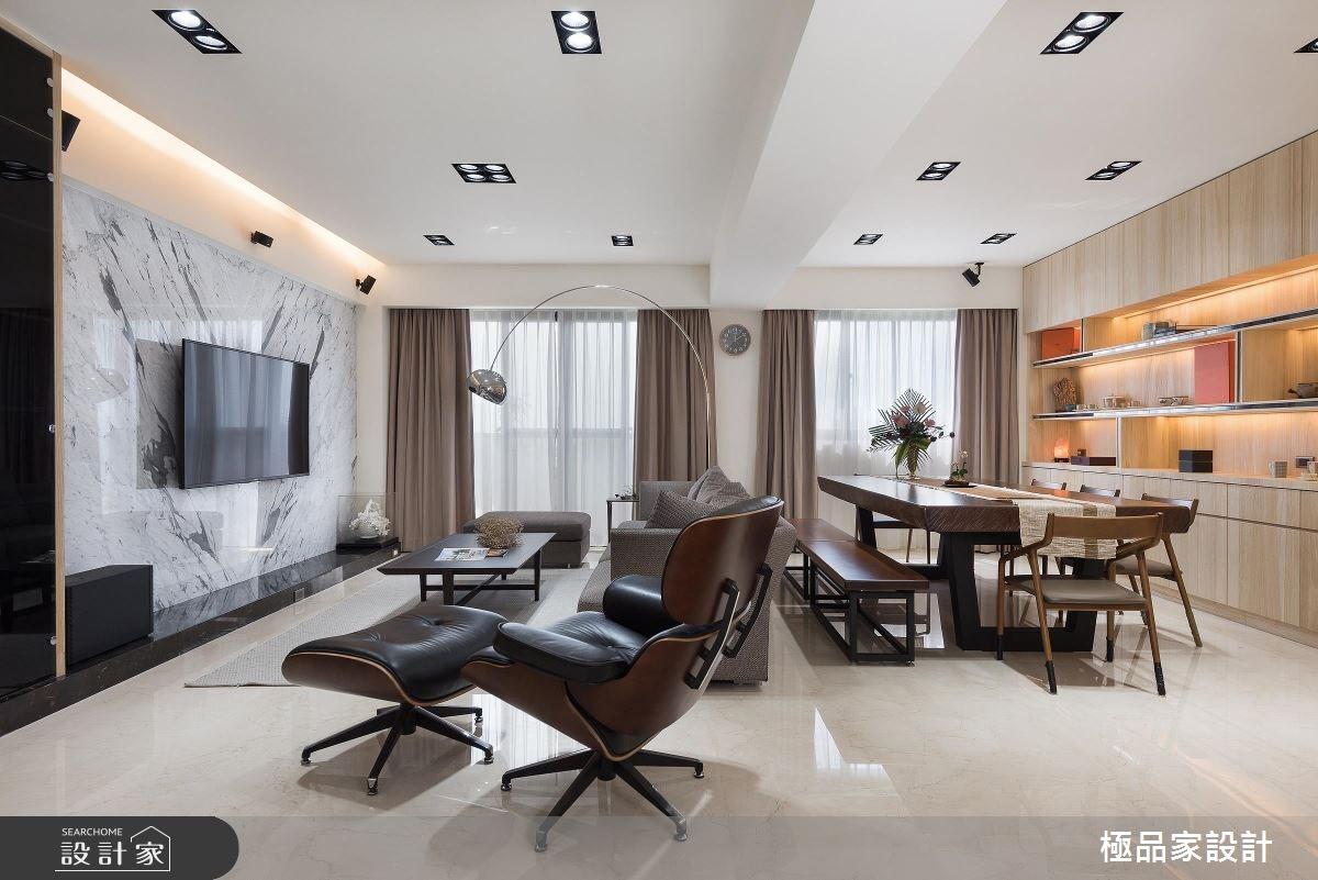60坪新成屋(5年以下)_簡約風客廳餐廳案例圖片_極品家設計_極品家_15之2