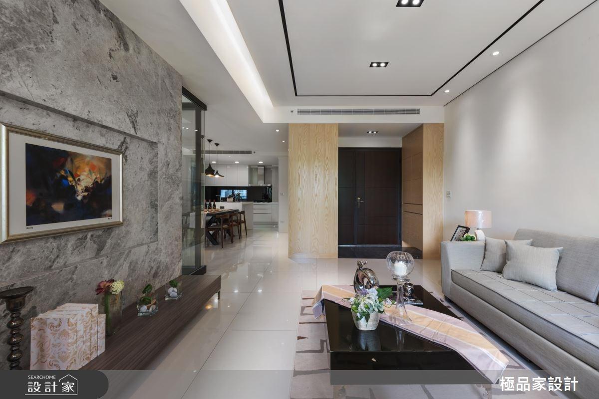 40坪新成屋(5年以下)_現代風玄關客廳案例圖片_極品家設計_極品家_17之1
