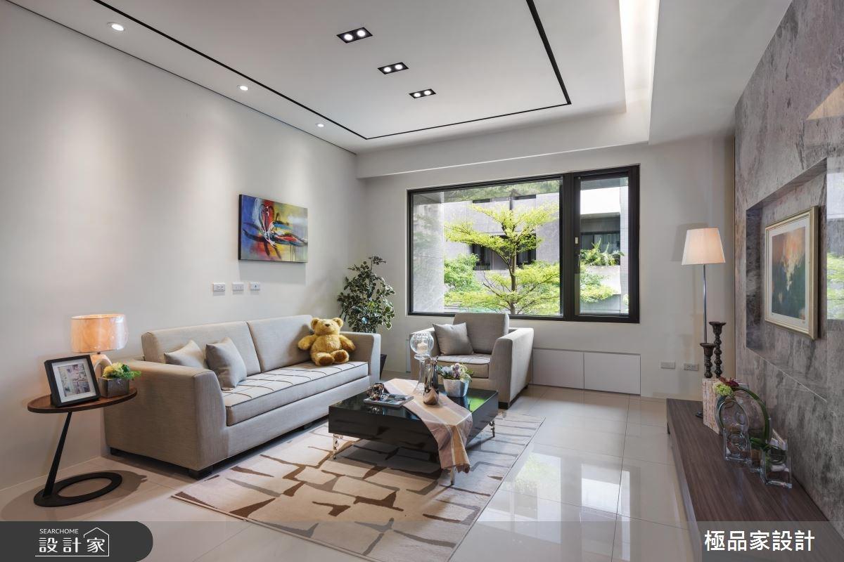 40坪新成屋(5年以下)_現代風客廳案例圖片_極品家設計_極品家_17之3