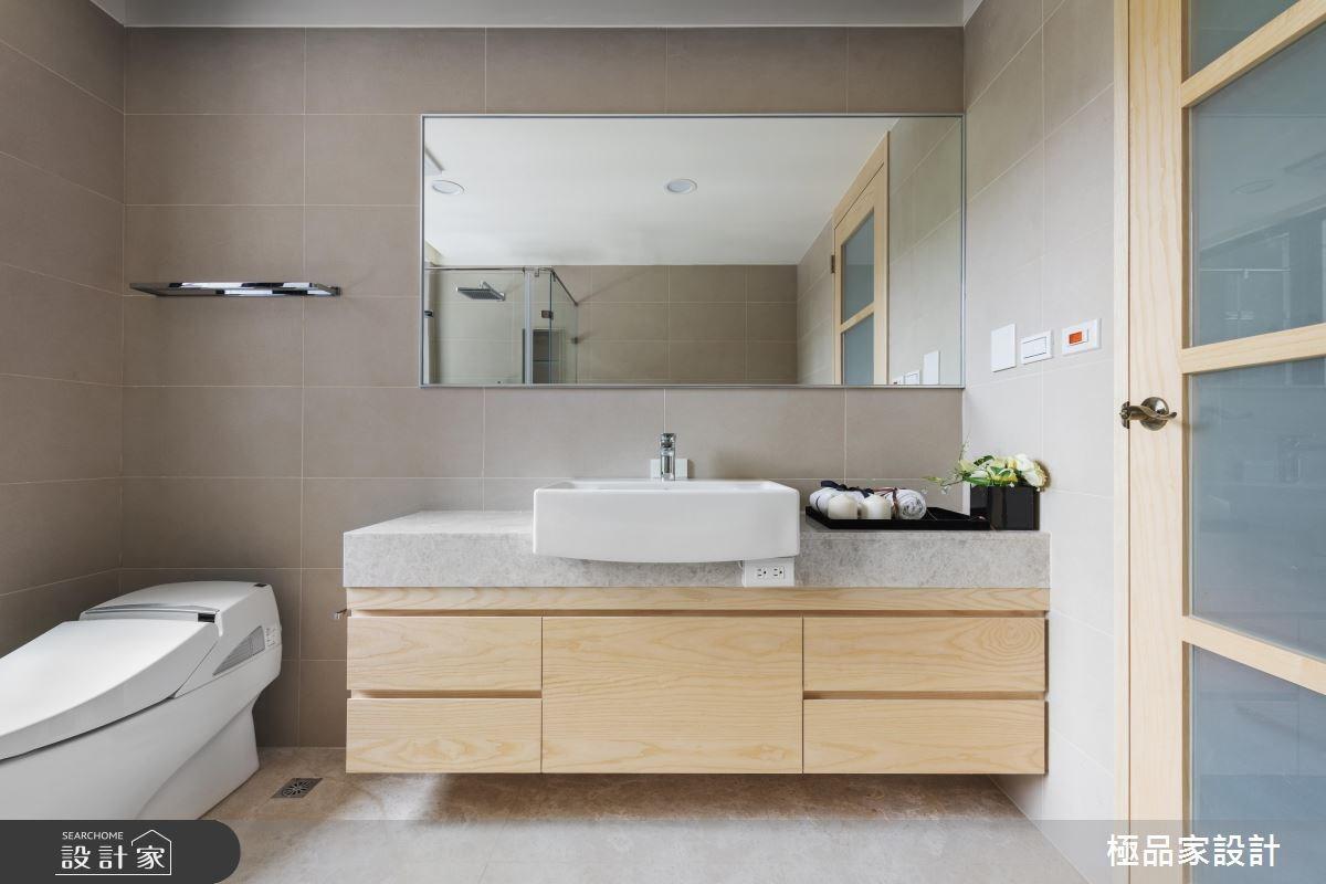 40坪新成屋(5年以下)_現代風浴室案例圖片_極品家設計_極品家_17之22
