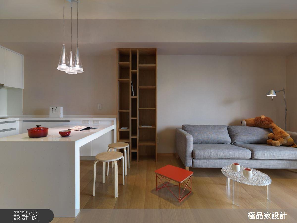 12坪新成屋(5年以下)_北歐風客廳餐廳廚房案例圖片_極品家設計_極品家_20之2