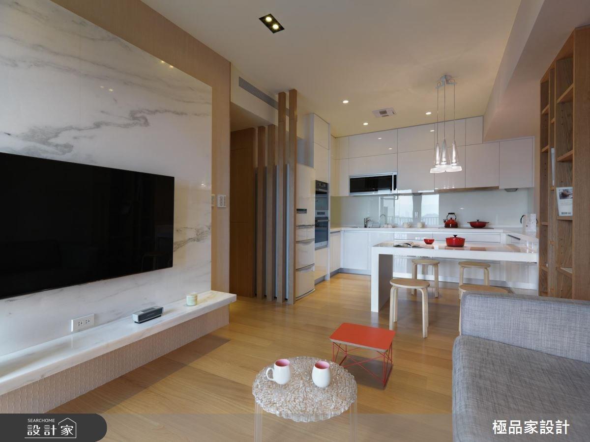 12坪新成屋(5年以下)_北歐風客廳餐廳廚房案例圖片_極品家設計_極品家_20之3