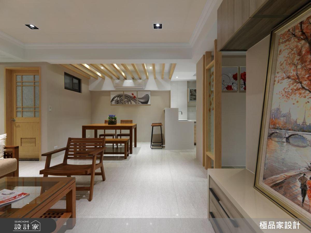 30坪老屋(16~30年)_休閒風客廳餐廳廚房吧檯案例圖片_極品家設計_極品家_21之3
