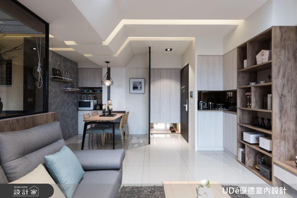 30坪新成屋(5年以下)_混搭風玄關客廳餐廳案例圖片_優德室內設計_優德_03之3