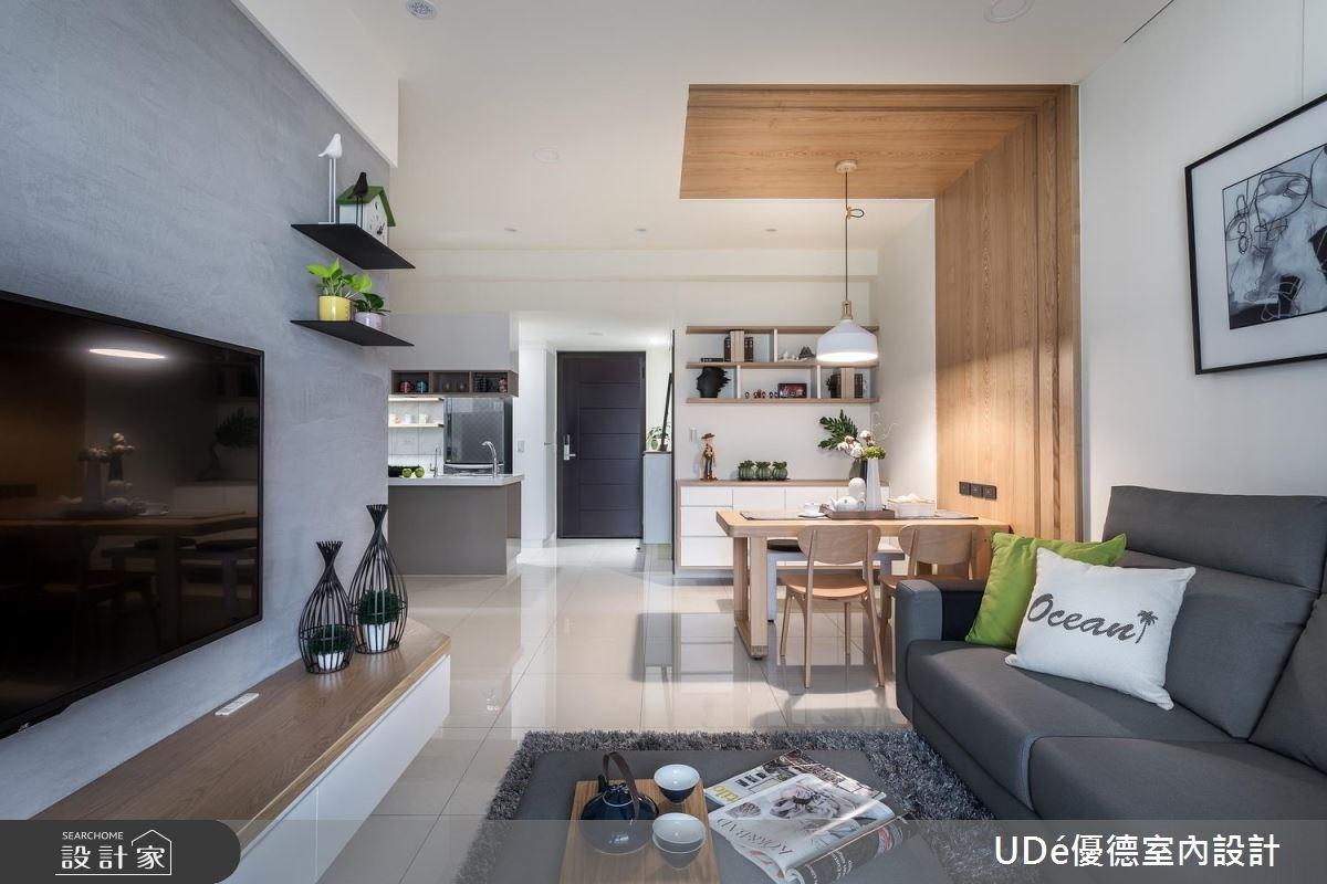 20坪新成屋(5年以下)_北歐風客廳餐廳廚房案例圖片_優德室內設計_優德_04之3