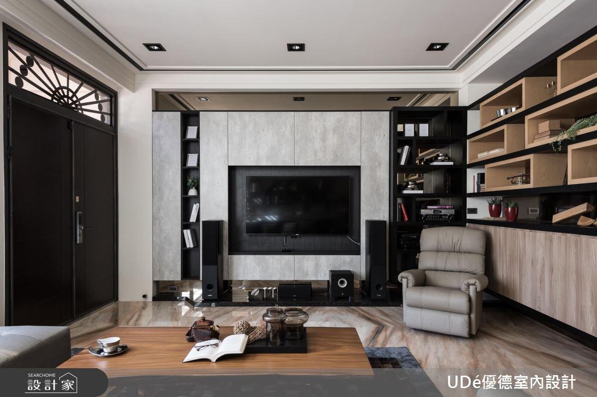 70坪新成屋(5年以下)_混搭風客廳案例圖片_優德室內設計_優德_05之2