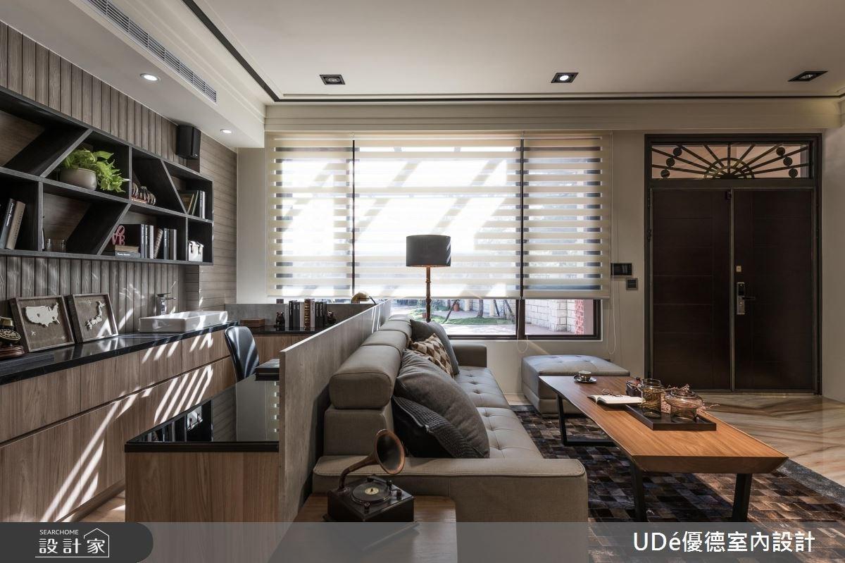 70坪新成屋(5年以下)_混搭風客廳書房工作區案例圖片_優德室內設計_優德_05之4