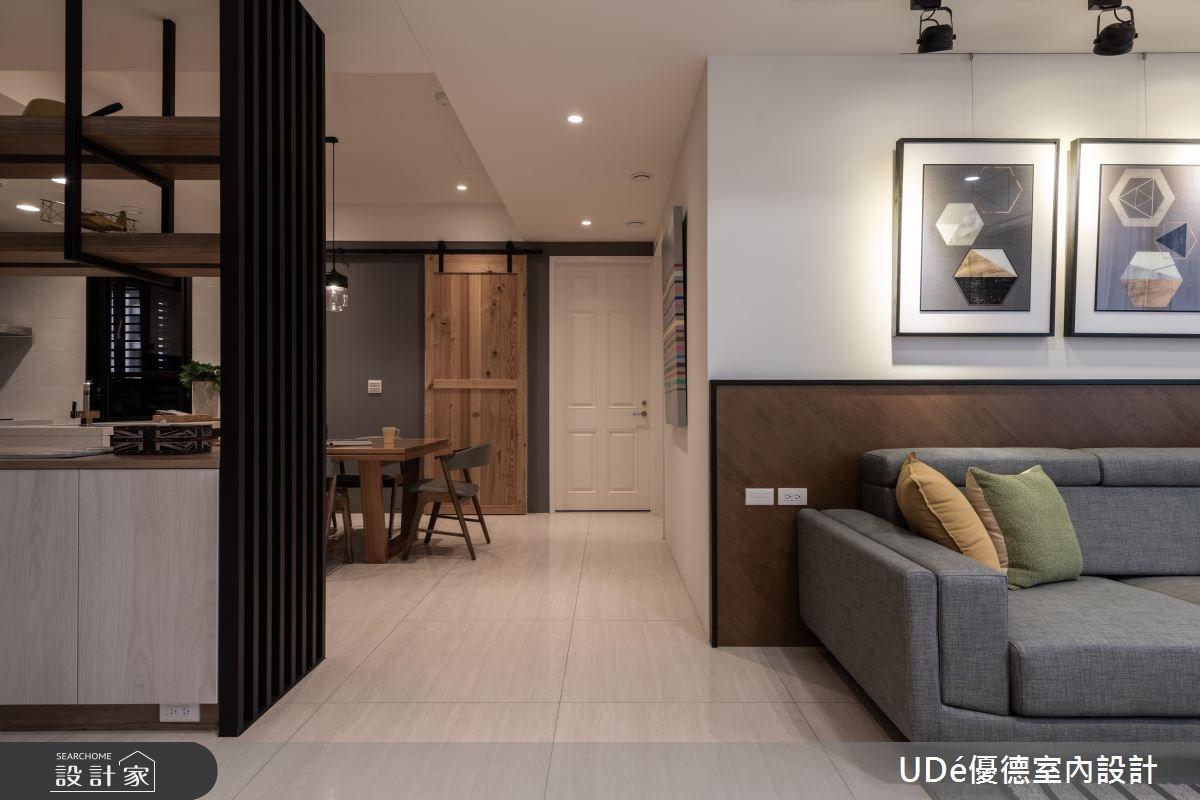40坪新成屋(5年以下)_混搭風客廳案例圖片_優德室內設計_優德_11之4