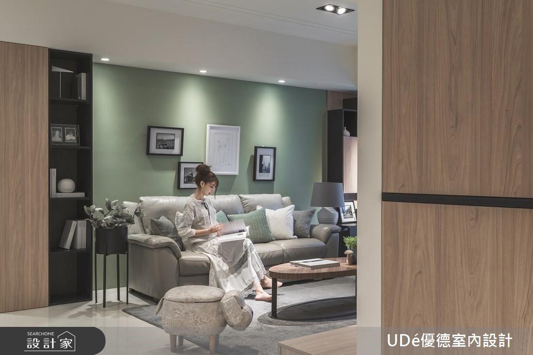 36坪新成屋(5年以下)_現代風客廳案例圖片_優德室內設計_優德_15之4