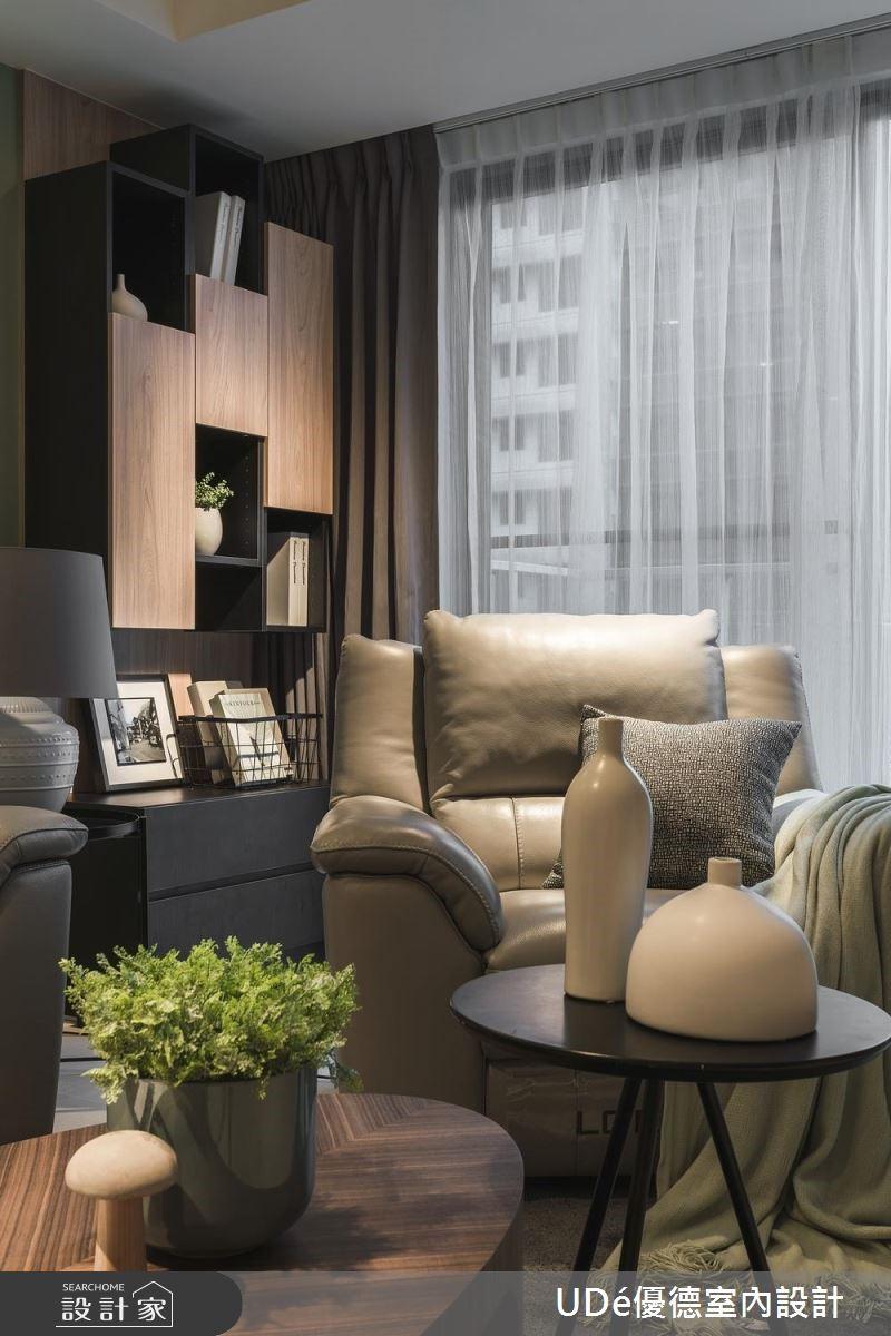 36坪新成屋(5年以下)_現代風客廳案例圖片_優德室內設計_優德_15之3