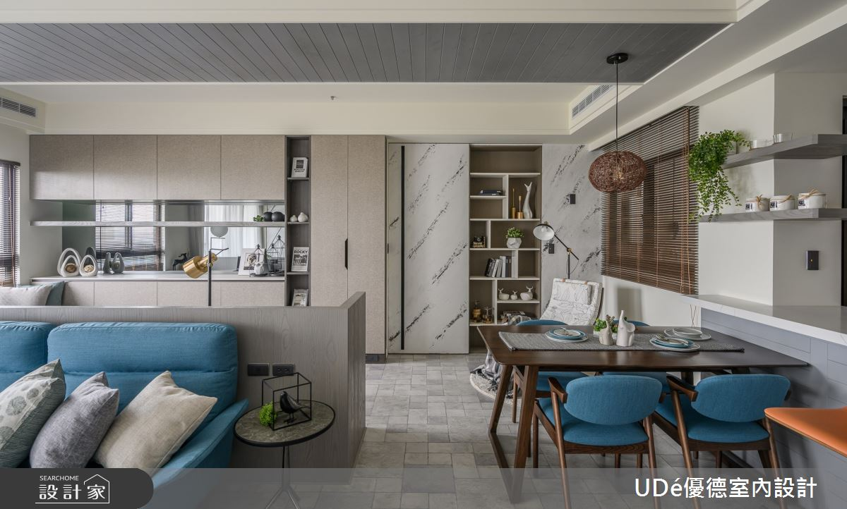 23坪新成屋(5年以下)_混搭風客廳餐廳案例圖片_優德室內設計_優德_19之6