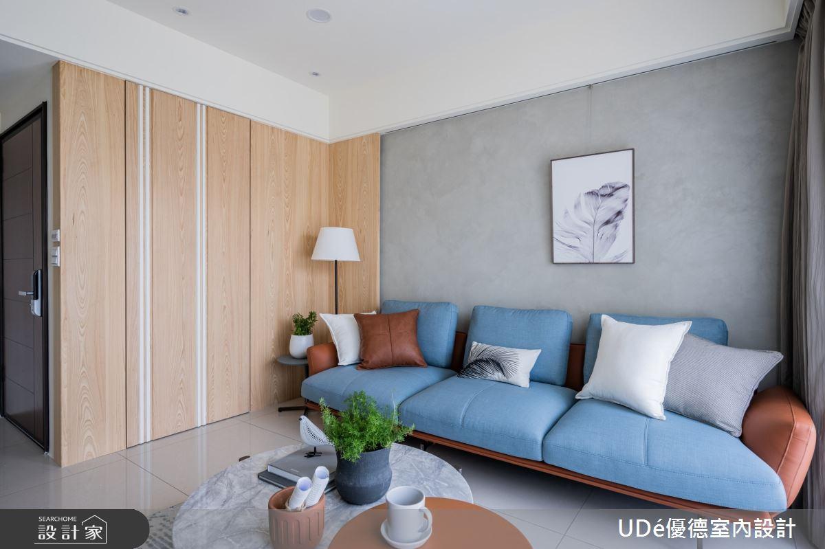 26坪新成屋(5年以下)_混搭風客廳案例圖片_優德室內設計_優德_20之2