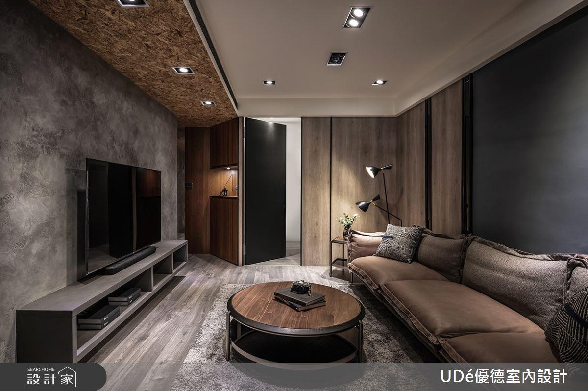 32坪老屋(31~40年)_工業風客廳案例圖片_優德室內設計_優德_21之2