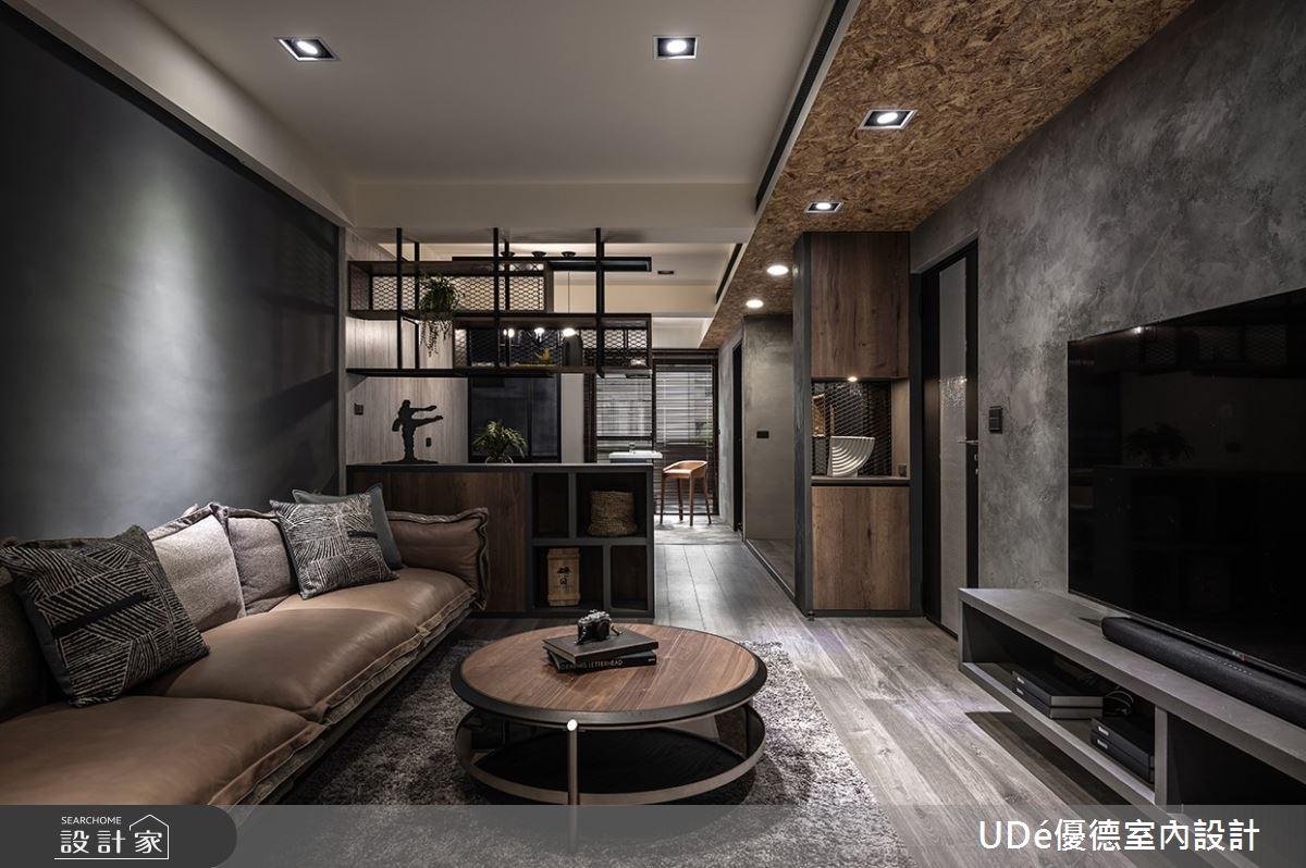 32坪老屋(31~40年)_工業風客廳案例圖片_優德室內設計_優德_21之3