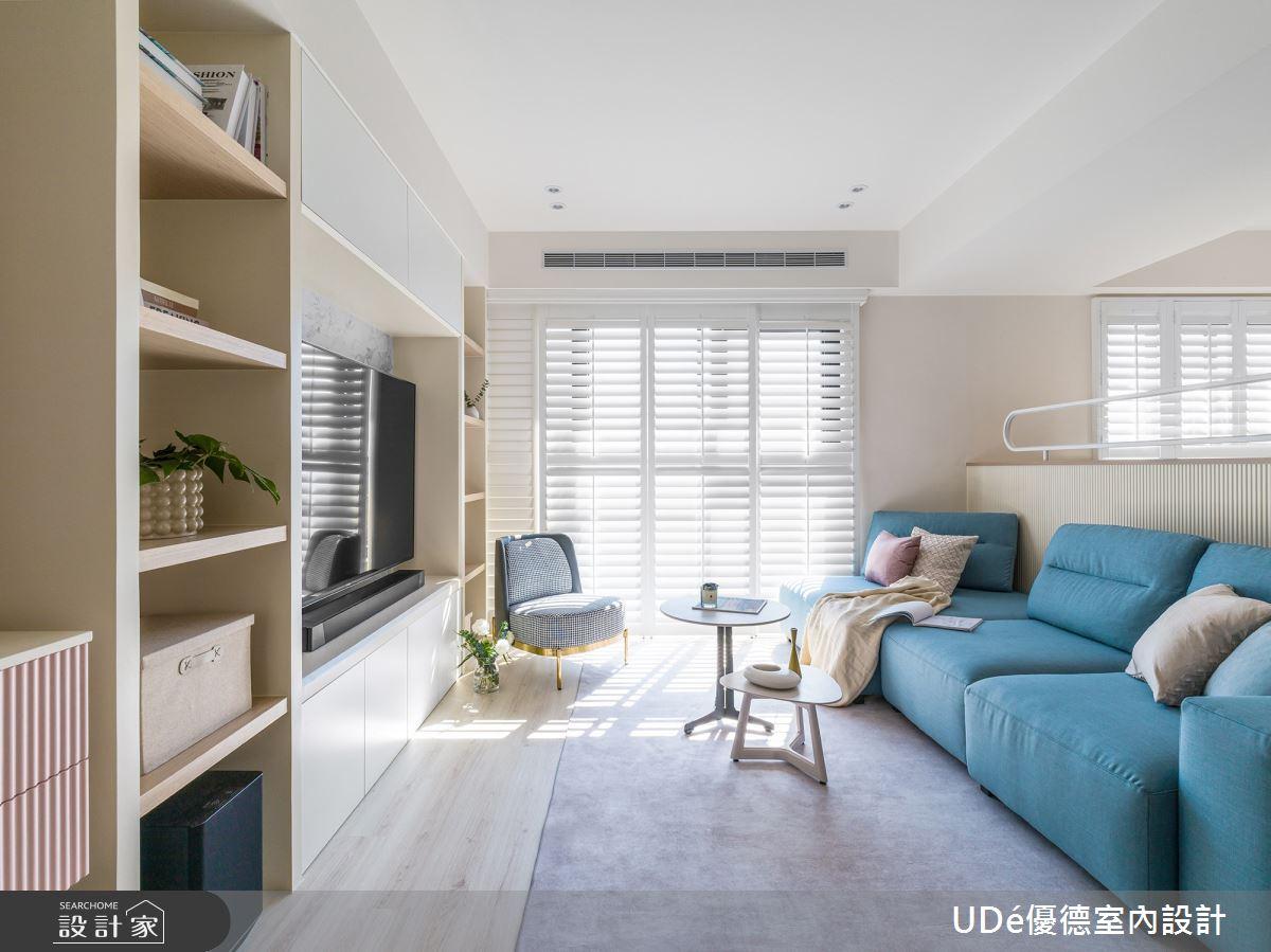45坪新成屋(5年以下)_新古典客廳案例圖片_優德室內設計_優德_24之2
