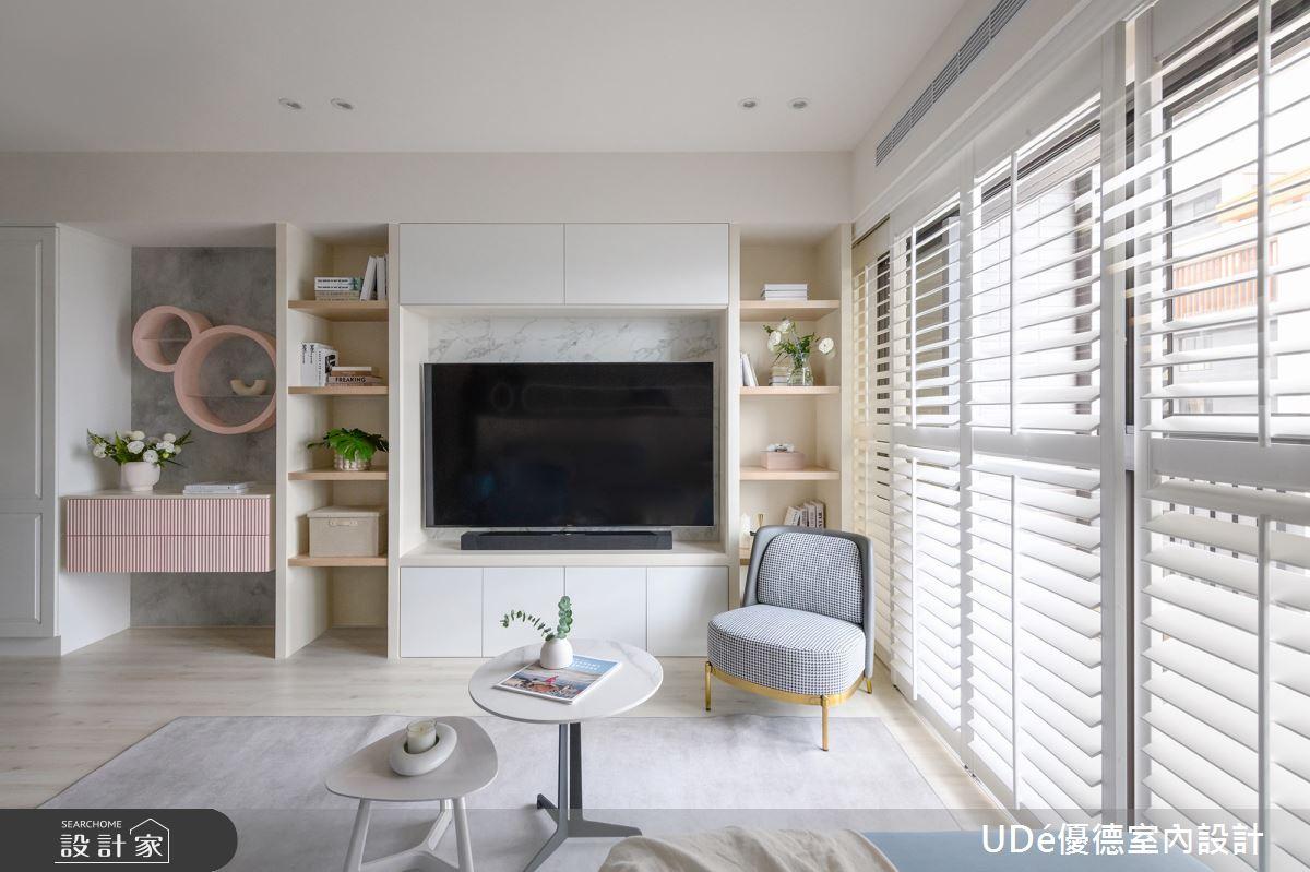 45坪新成屋(5年以下)_新古典客廳案例圖片_優德室內設計_優德_24之3