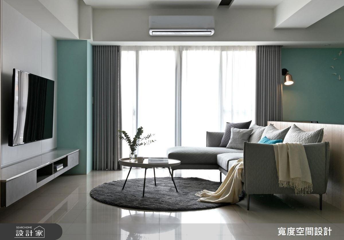 38坪新成屋(5年以下)_簡約風客廳案例圖片_寬度空間設計_寬度_01之2