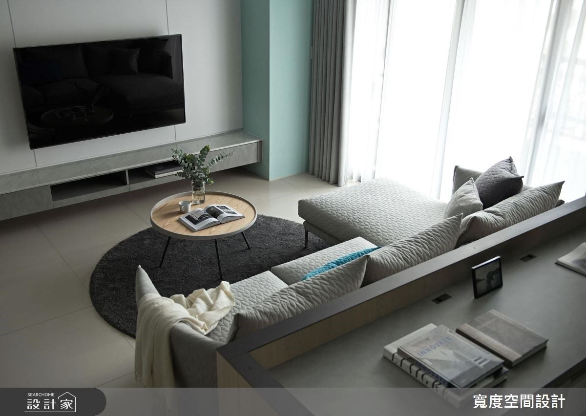 38坪新成屋(5年以下)_簡約風客廳案例圖片_寬度空間設計_寬度_01之4
