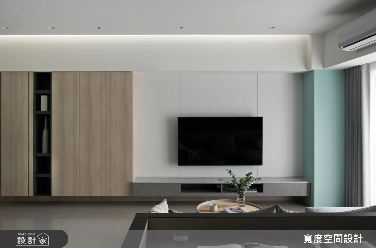 38坪新成屋(5年以下)_簡約風客廳案例圖片_寬度空間設計_寬度_01之5