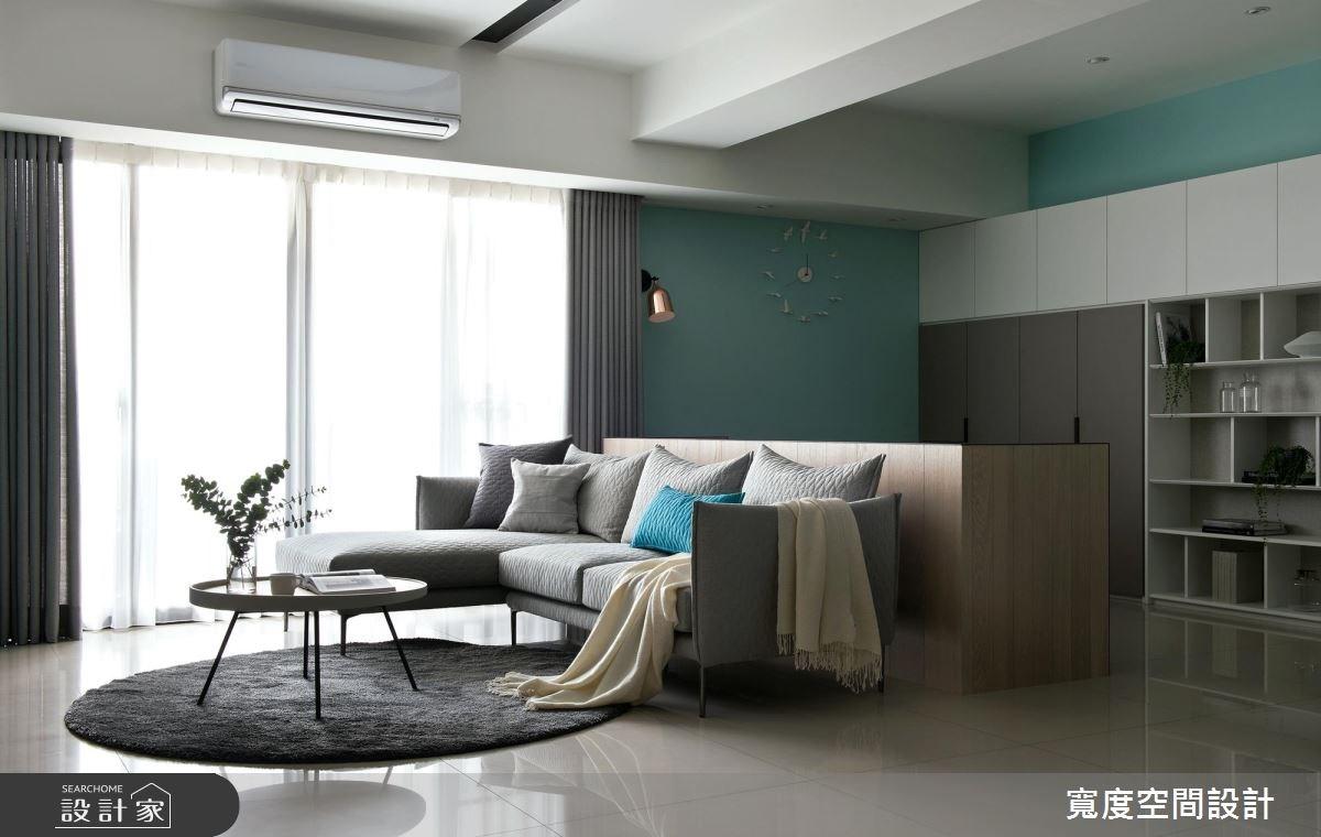 38坪新成屋(5年以下)_簡約風客廳書房案例圖片_寬度空間設計_寬度_01之7