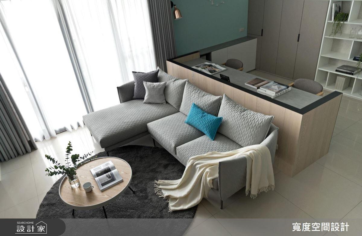 38坪新成屋(5年以下)_簡約風客廳書房案例圖片_寬度空間設計_寬度_01之8