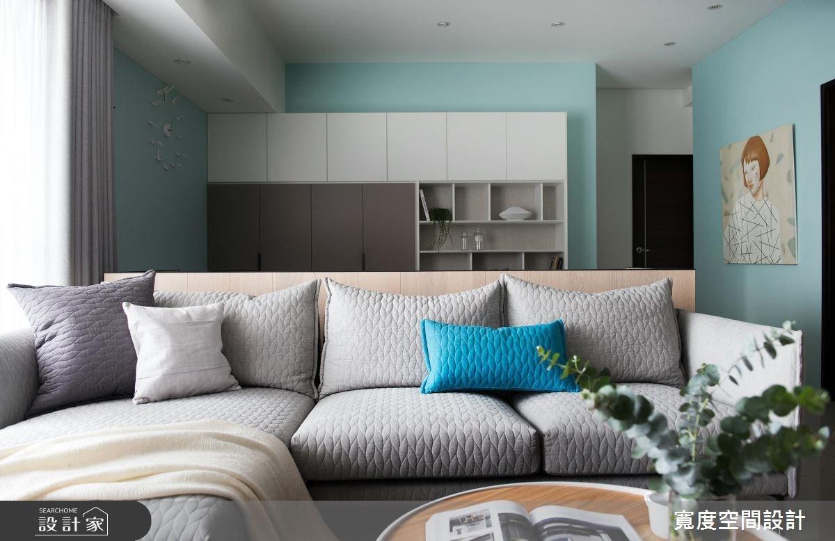 38坪新成屋(5年以下)_簡約風客廳書房案例圖片_寬度空間設計_寬度_01之9