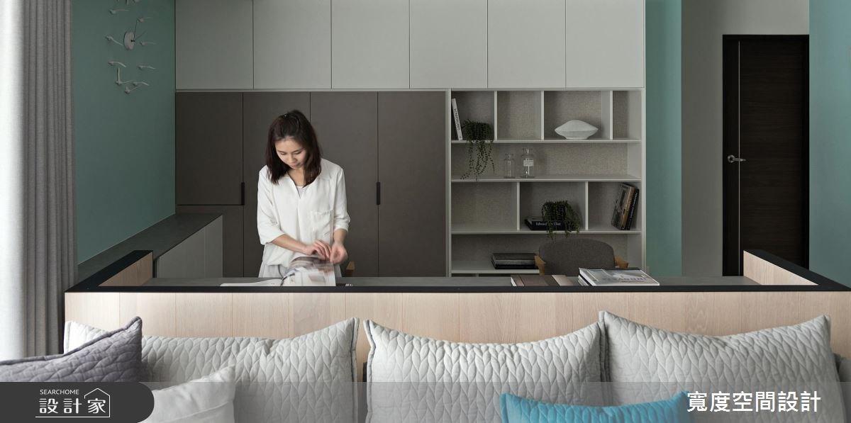 38坪新成屋(5年以下)_簡約風客廳書房案例圖片_寬度空間設計_寬度_01之10