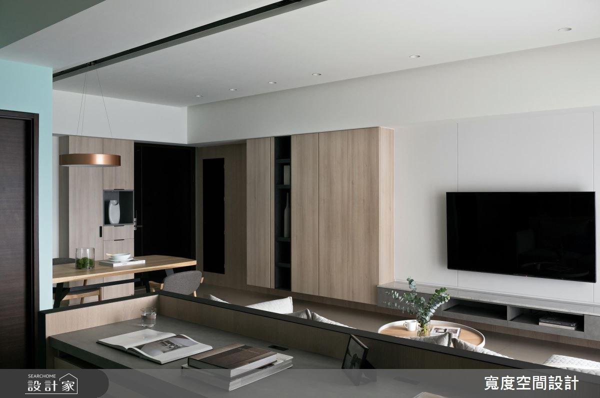 38坪新成屋(5年以下)_簡約風客廳餐廳書房案例圖片_寬度空間設計_寬度_01之12