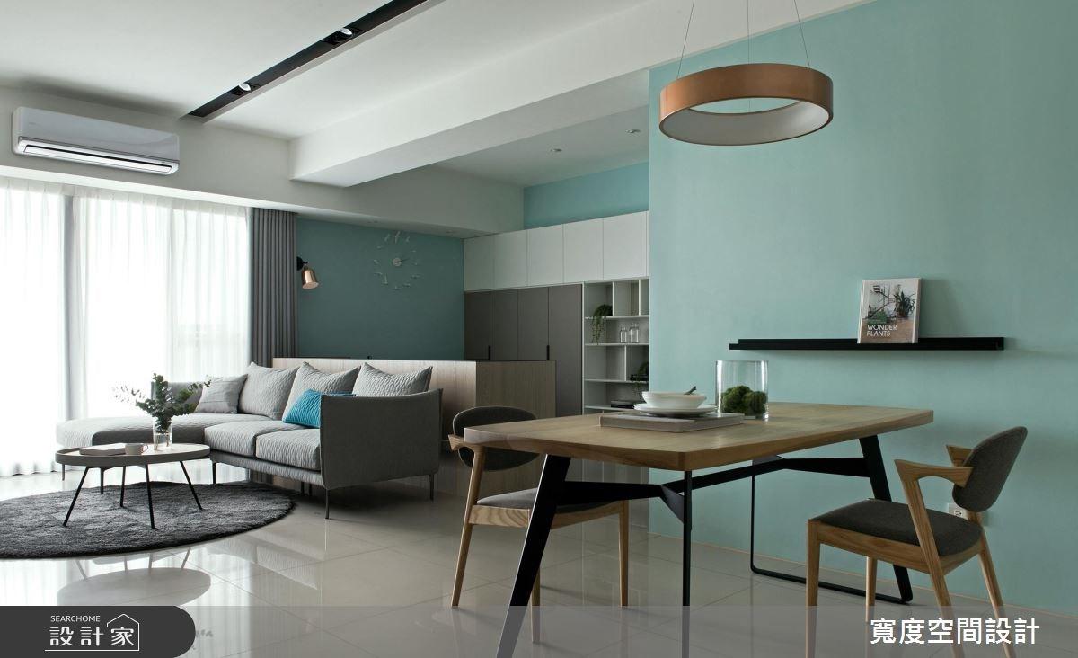 38坪新成屋(5年以下)_簡約風客廳餐廳書房案例圖片_寬度空間設計_寬度_01之15