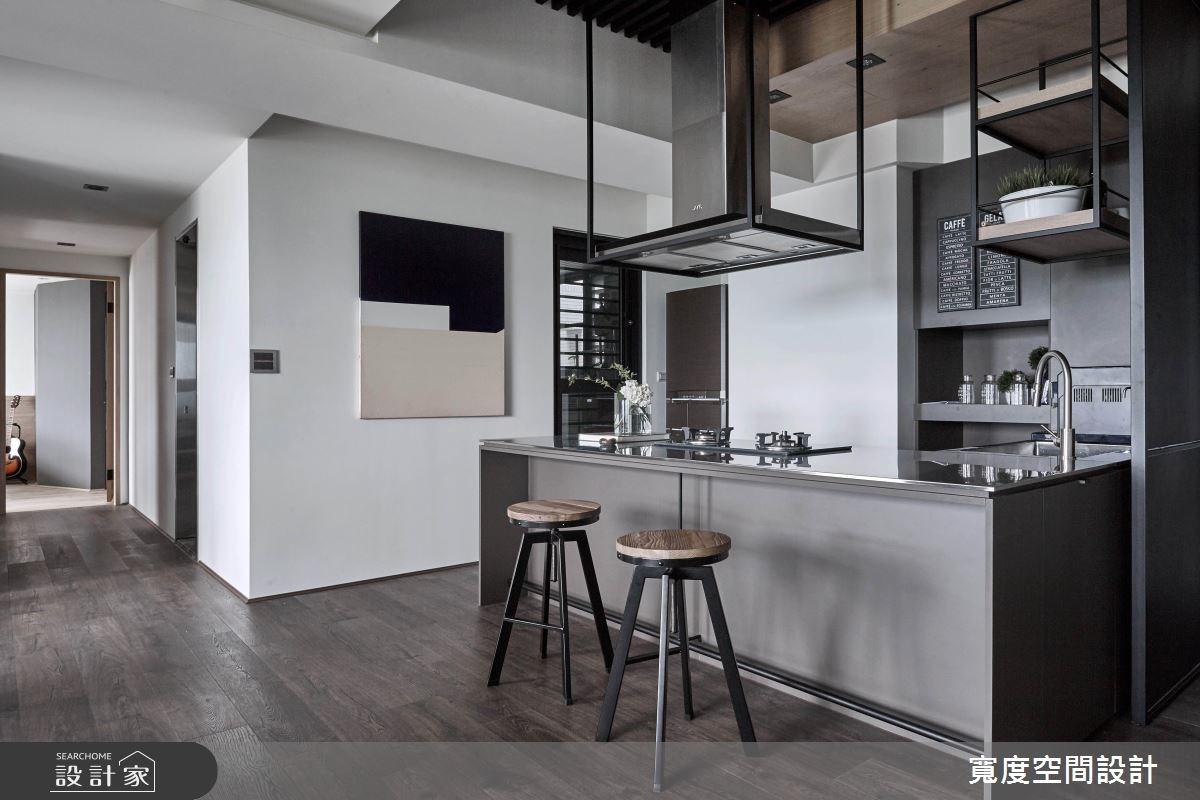 32坪新成屋(5年以下)_工業風餐廳廚房吧檯案例圖片_寬度空間設計_寬度_02之2