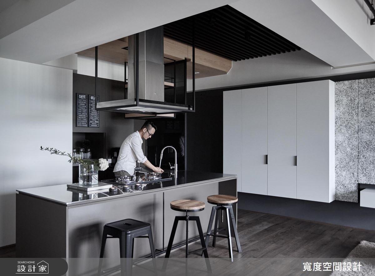 32坪新成屋(5年以下)_工業風餐廳廚房吧檯案例圖片_寬度空間設計_寬度_02之3