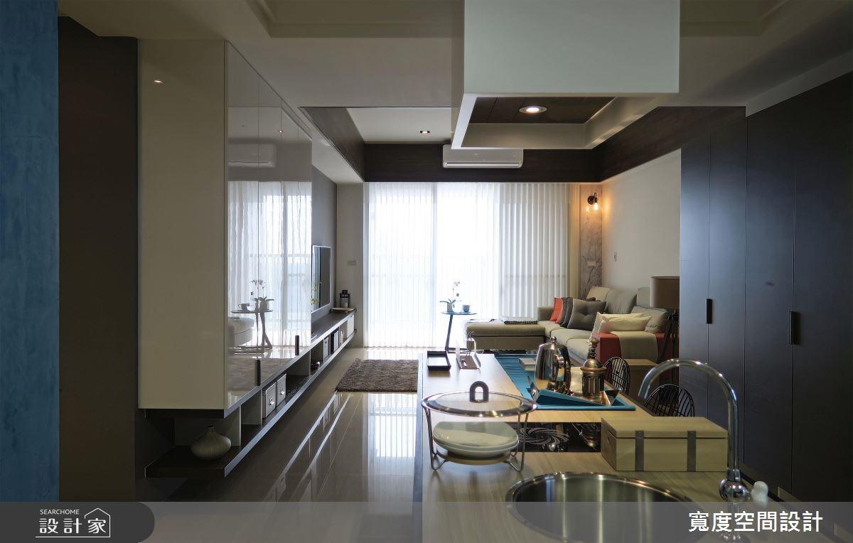30坪新成屋(5年以下)_混搭風客廳餐廳廚房案例圖片_寬度空間設計_寬度_05之8